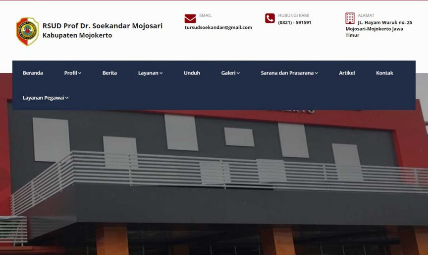 Memperbaiki Menu Website RSUD Dr Soekandar Mojokerto